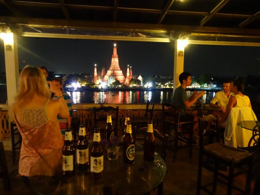 Chang beer Wat Arun