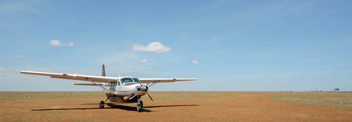 Safarilink review: image showing a plane on the ground at a local airstrip