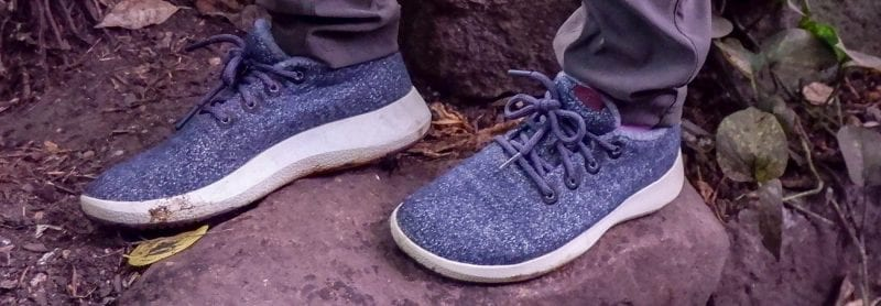Allbirds Mizzles on rocks for review