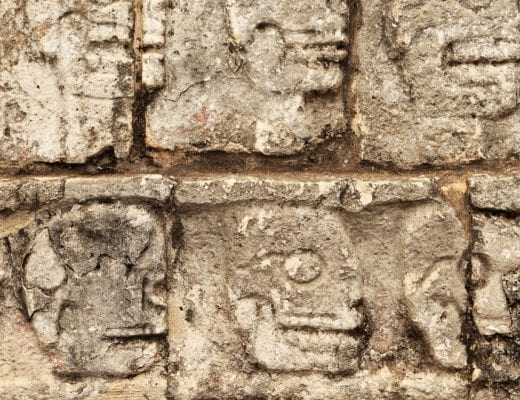 Mayan walls in Chichen Itza or Uxmal, Mexico