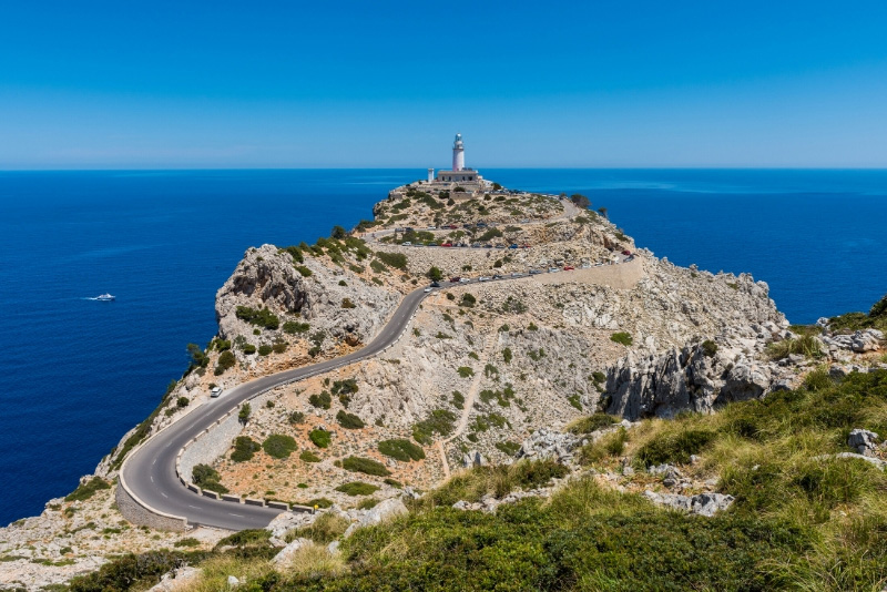 The lighthouse on the tip of the Cap de Formentor peninsula, Mallorca