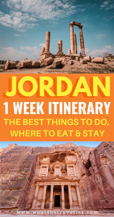 1 week Jordan itinerary pin