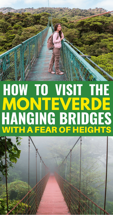 Would Be Traveller Hanging Bridges with a fear of heights