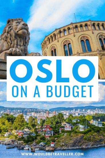 Oslo on a budget pin