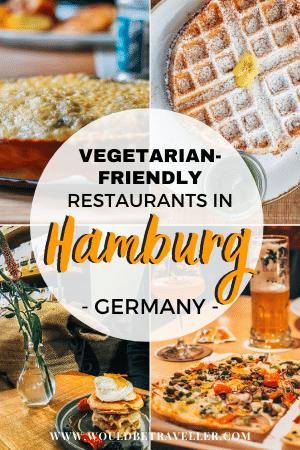 Vegetarian food in Hamburg pin
