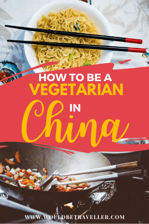 Travelling as a vegetarian in China pin