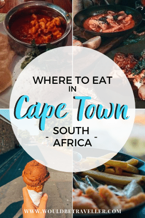 Where to eat in Cape Town pin