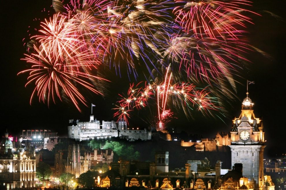 Edinburgh on New Year's Eve