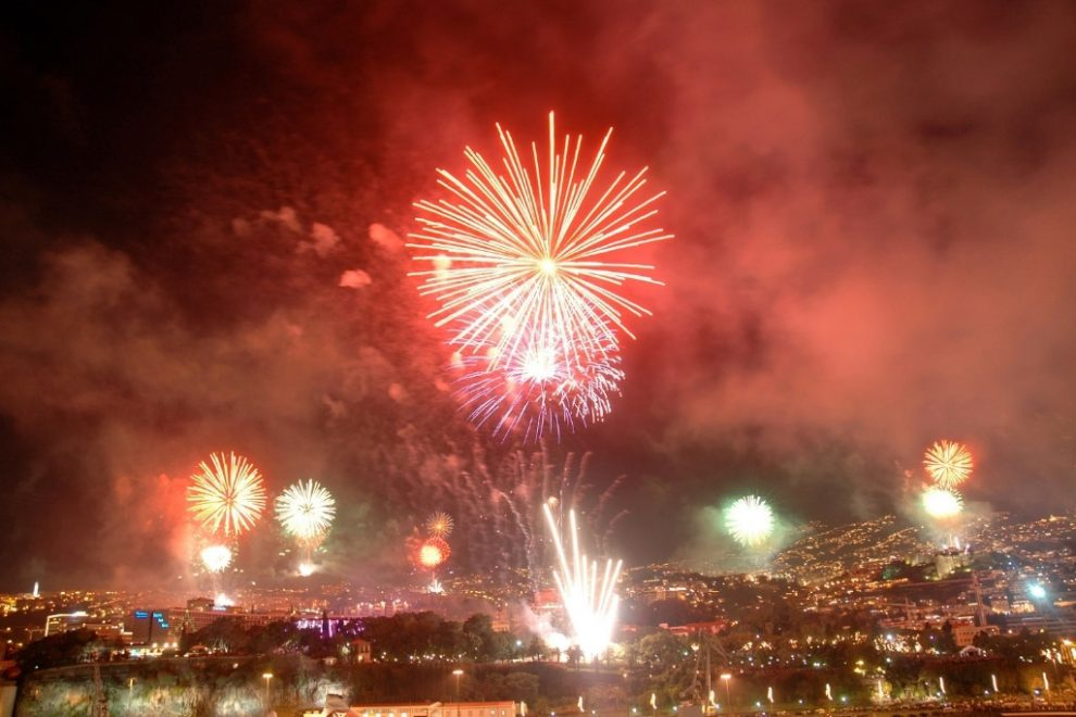 Funchal in Madeira hosts a world-record breaking fireworks display for NYE