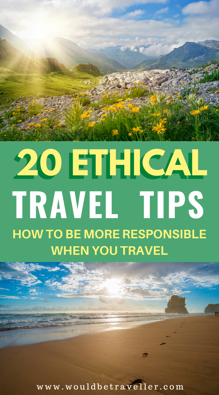 Responsible Travel Tips pin