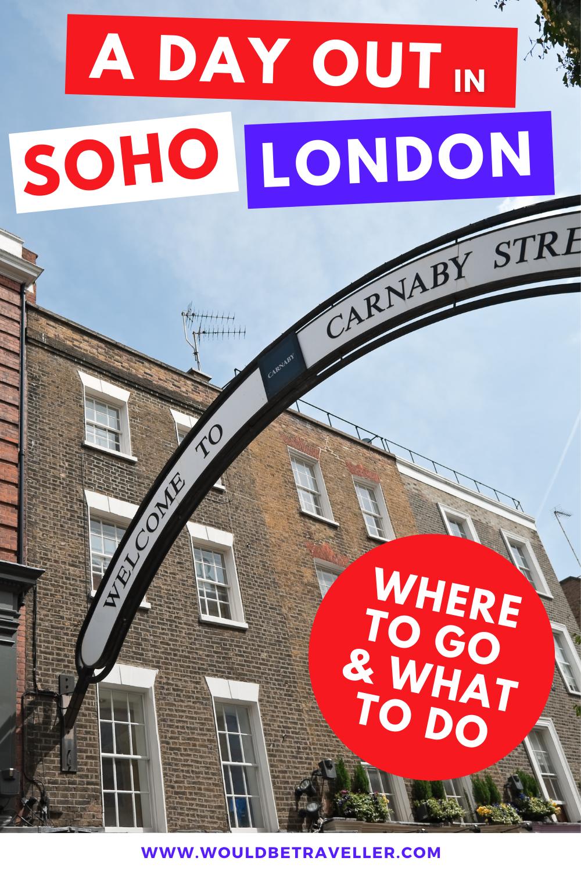 Day in Soho London pin