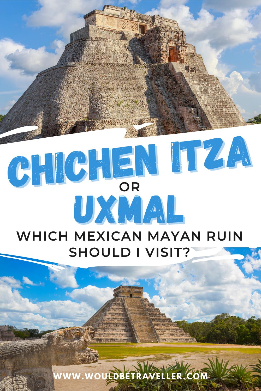 Uxmal or Chichen Itza Mexico travel pin