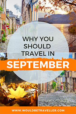 Where to travel in September pin