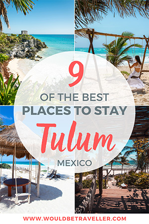 Where to stay in Tulum pin