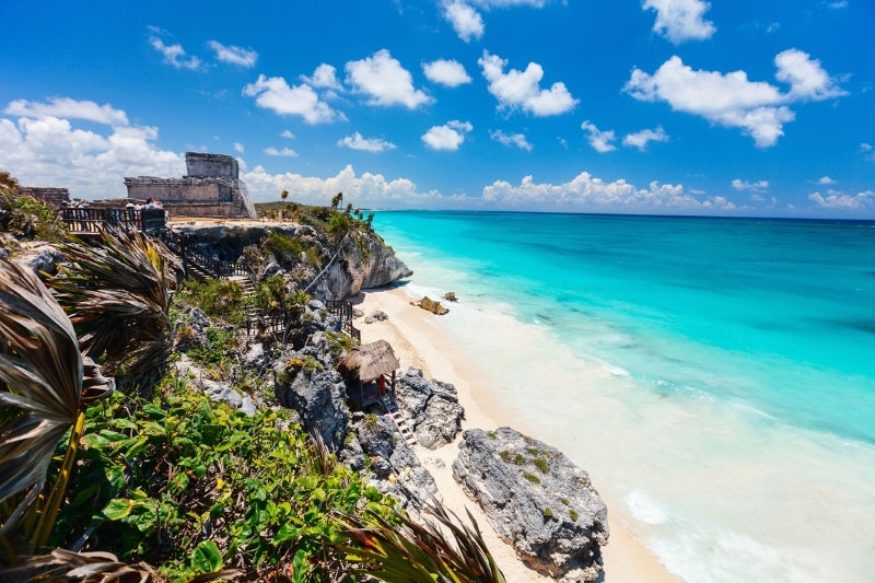 One of the best places to stay in Tulum is near Tulum ruins