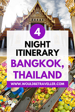 4 nights Bangkok pin