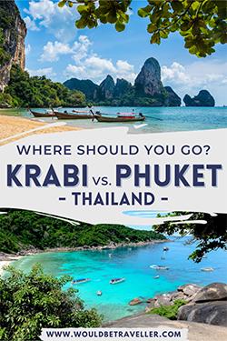 Krabi vs. Phuket pin
